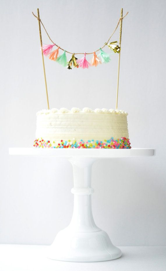 Choose Your Colors Tassel Topper // Cake Topper, Pie Topper, Cupcake Topper, Dessert Topper