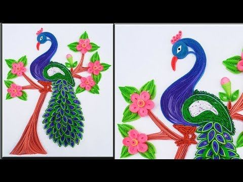 Quilled Beautiful Peacock Wall Art Diy Wall Decor Peacock