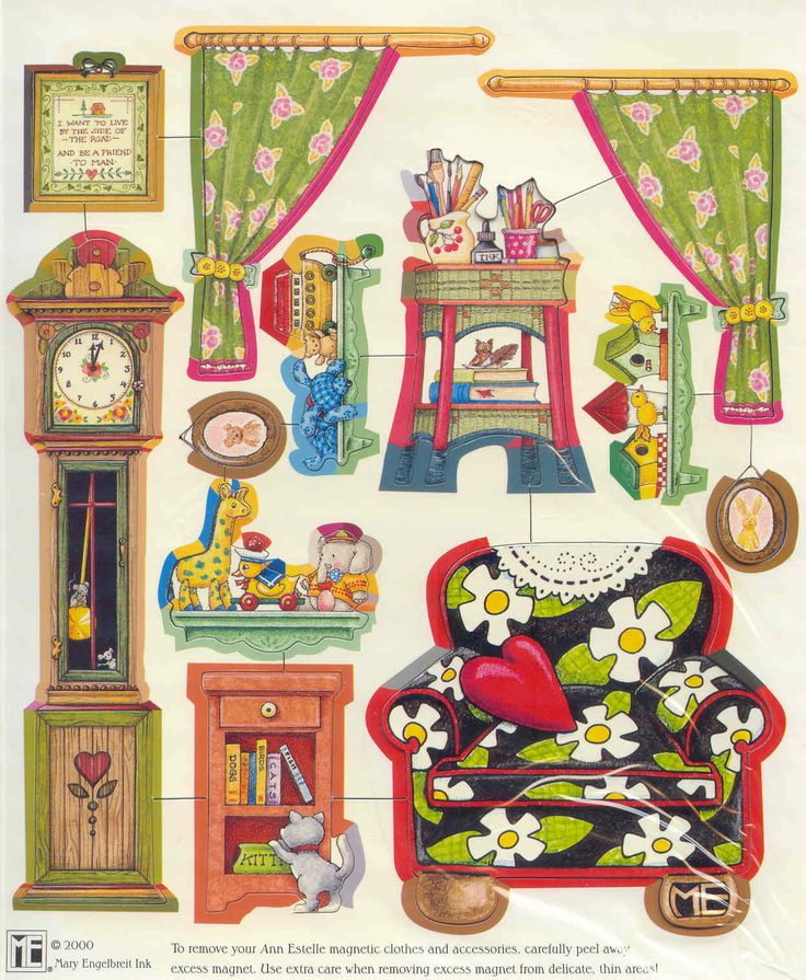gold country girls: Mary Engelbreit Magnetic Dollhouse - Library