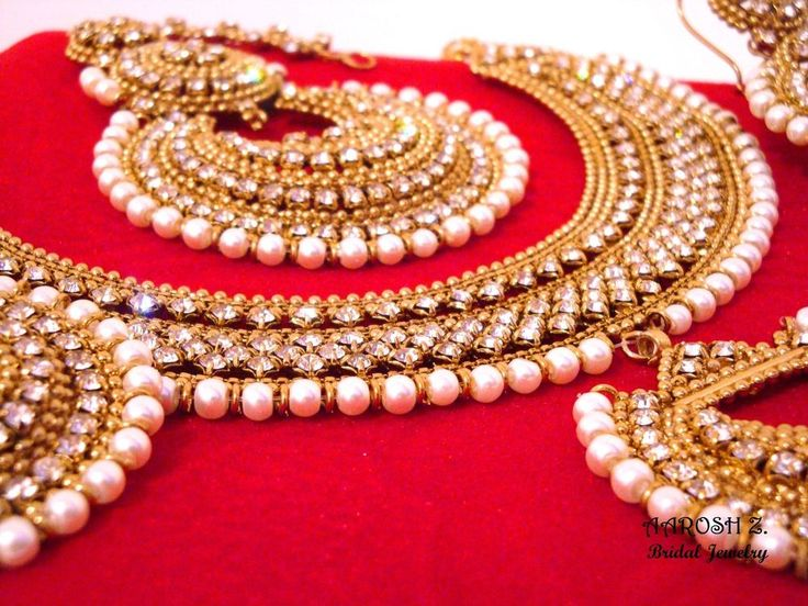 Bollywood Bridal Engagement Wedding Set Pakistani Indian Necklace Earrings #AAROSHZ #ChokerHoop