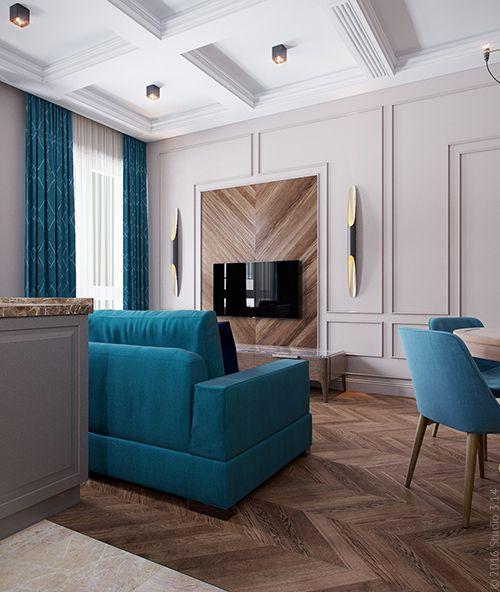 Дизайн четырехкомнатной квартиры в г. Химки в стиле современной классики