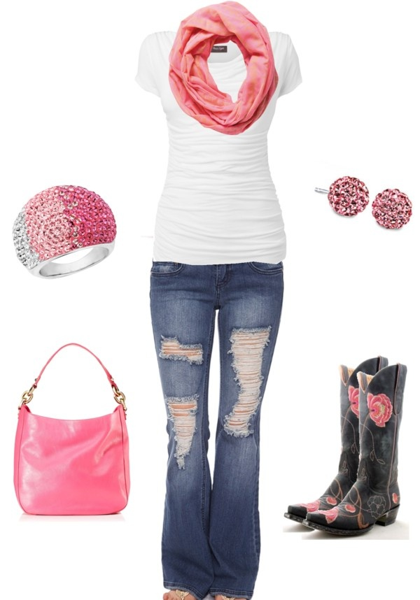 """""""Pink and White"""" by sarah-jones-3 on Polyvore"""
