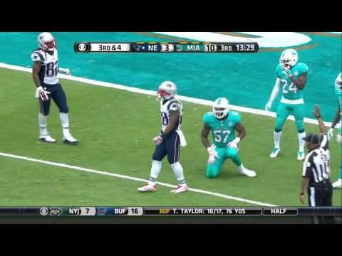 Patriots RB James White's Tackle-Breaking 68-Yard Catch-'n-Run!   Patriots vs. Dolphins   NFL - YouTube