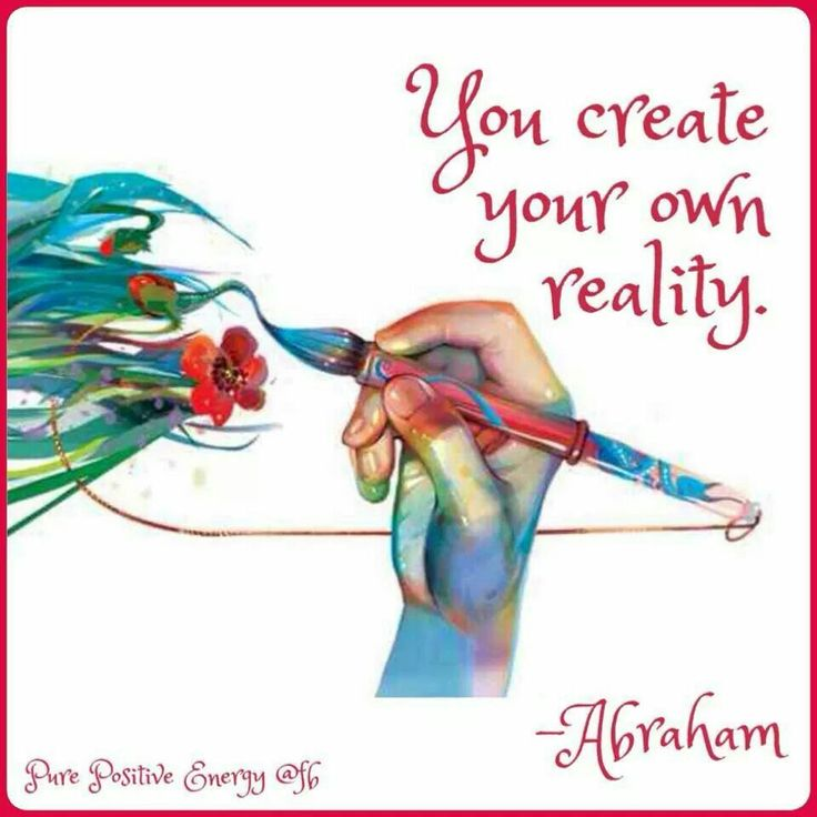 Abraham Hicks ... So creating its about ignoring what is and going for your hearts desire!