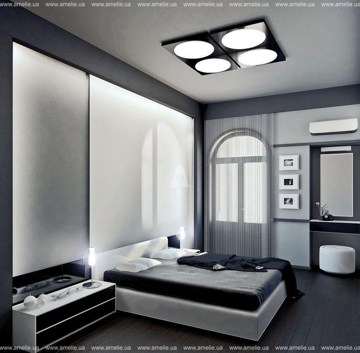 Интерьер спальни в стиле - Минимализм. Автор: AMELIE™ - Дизайн студия интерьера Киев. (разработка планировочных решений, эскизов (3D визуализация интерьера), чертежи, авторское сопровождение, строительная бригада.