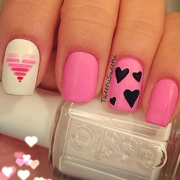 hearts VALENTINE #nail #nails #nailart