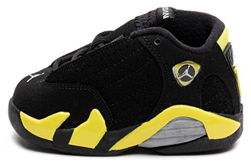 Nike Air Jordan 14 Retro Toddler Crib Black/Vibrant Yellow-White 312093-070 - http://shoes.goshopinterest.com/boys/sneakers-boys/nike-air-jordan-14\u2026