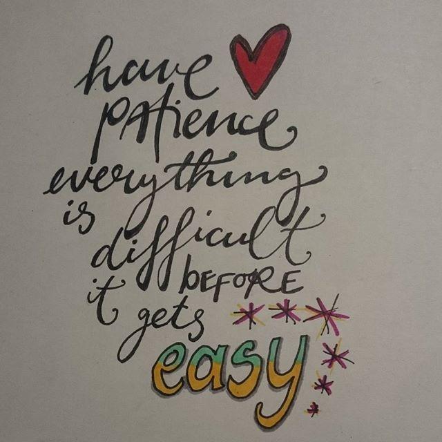 Geduld ist eine Tugend #patience #handlettering #handwritten