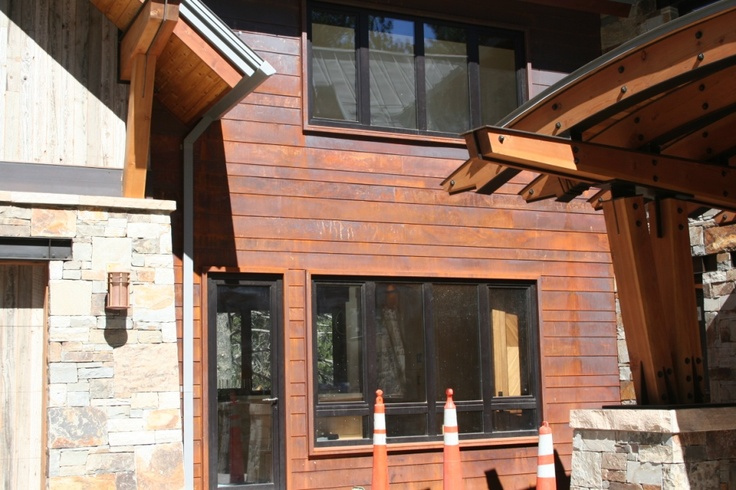 9 best images about metal siding options on pinterest for Horizontal steel siding