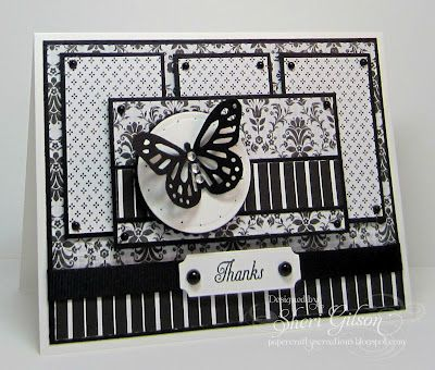 Thank you card: Cards Thanks, Cards Ideas, Sympathy Cards, Handmade Cards, Cards Butterflies, Paper Crafty, Sketch Challenges, Butterflies Cards, Cards Black