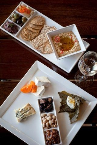 Cheese and Hummus from Napa's 1313 Main. Perfect pairing with your favorite wine.     http://www.donapa.com/bars-nightlife/1313-main