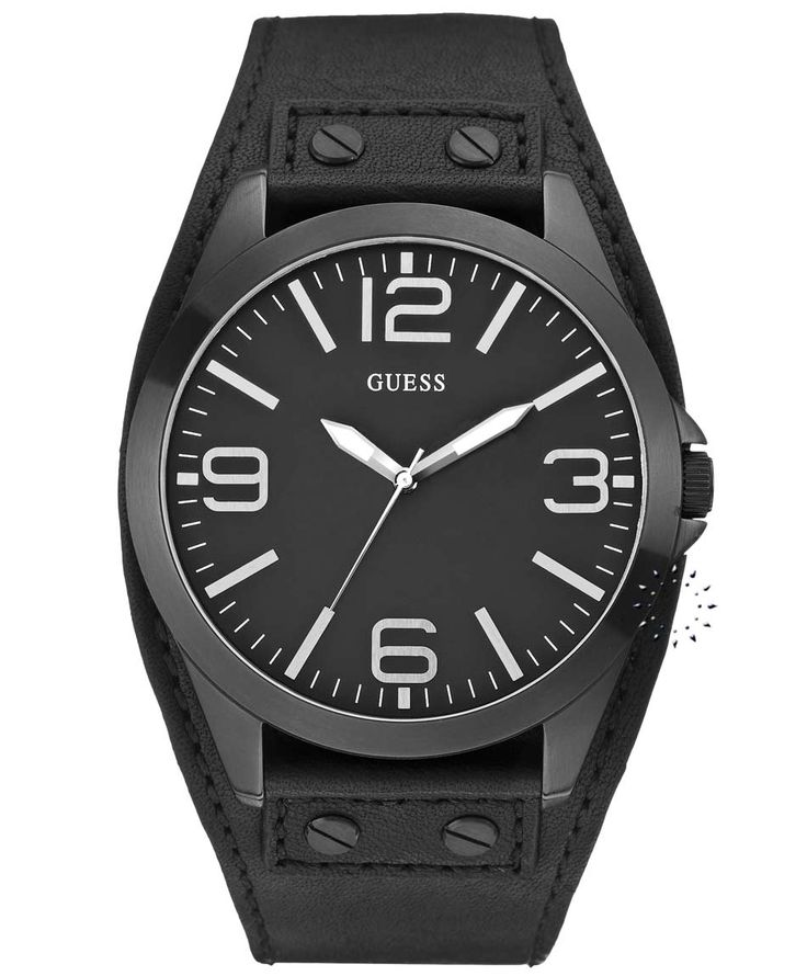 GUESS Black Leather Strap Black Dial Η τιμή μας: 118€ http://www.oroloi.gr/product_info.php?products_id=31727