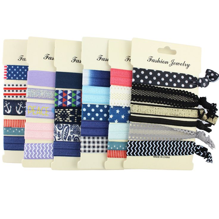 $0.99 2016 New Bohemian Fashion Hairbands Jewelry Pop Color FOE No Crease Elastic Hair Ties Bands Ponytail Bracelets Hair Accessories