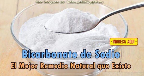 BICARBONATO DE SODIO, EL MEJOR REMEDIO NATURAL QUE EXISTE