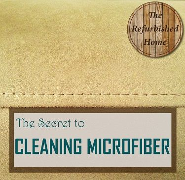 The Secret to Cleaning Microfiber- How to clean a gross couch! by The Refurbished Home
