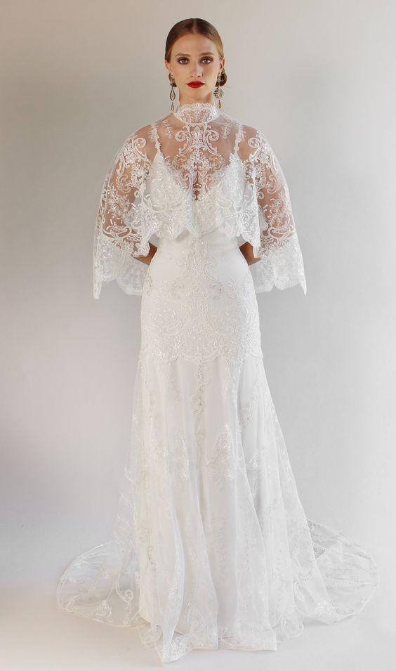 Romantique By Claire Pettibone Santa Monica Lace Wedding Dress
