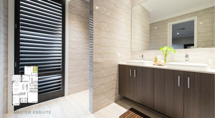 Double sinks make this ensuite perfect for the working couple. #worldconcepthomes #home #house #bathroom #interior #decorating