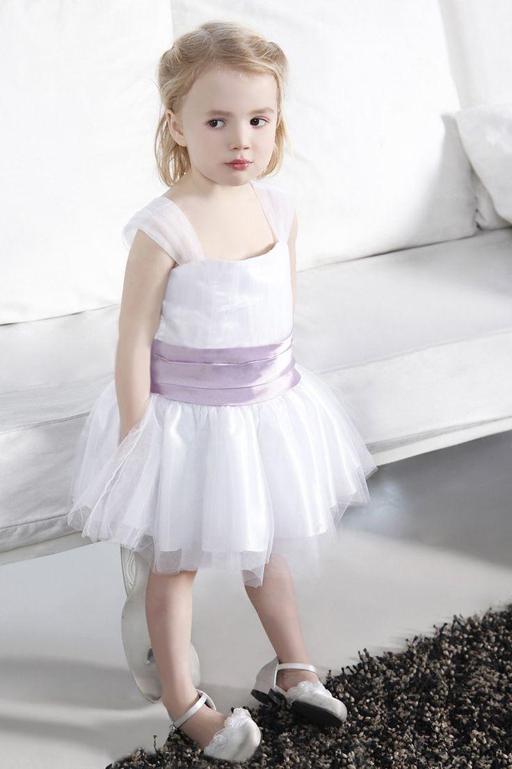 Ball Gown Square Neck Sleeveless Knee length Flower Girl Dresses - Flower Girls Dresses - Wedding Apparel