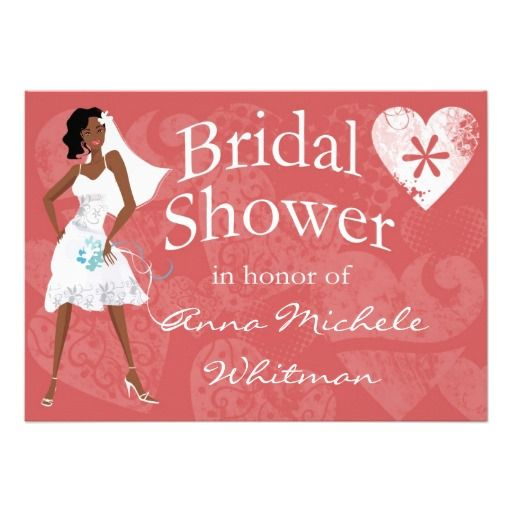 Exceptional African American Bridal Shower Invitation