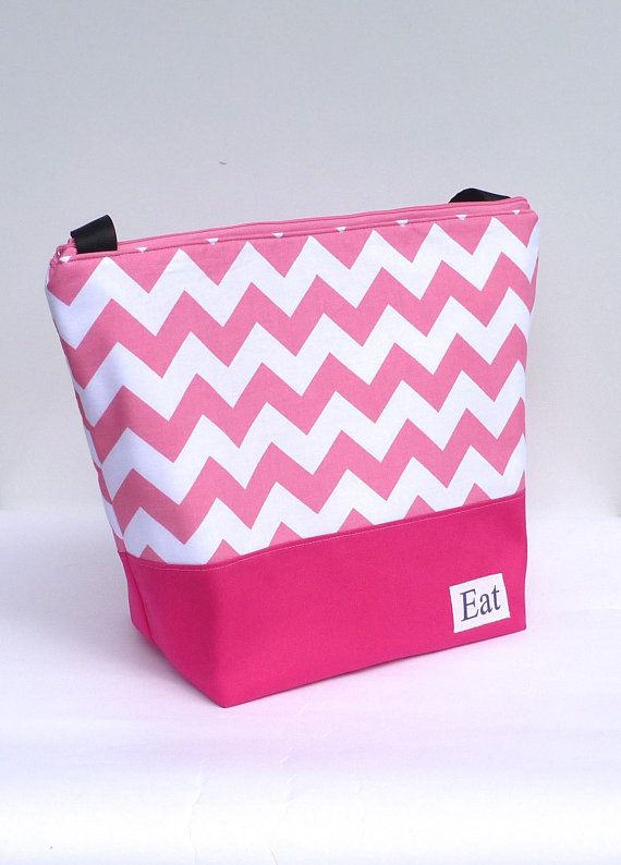 Insulated Large Lunch Bag Tote Zip Lunch Bag Adult by BonTons, $40.00