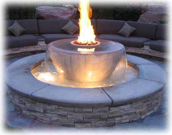 1000 images about fire and water for the home and yard on for Fire and water features
