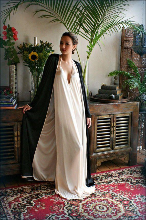 Bata de raso reversible dos tono dos Color traje nupcial boda