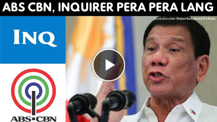 """INQUIRER & ABS-CBN PERA PERA LANG YAN - DUTERTE 'Noong eleksyon they throw all the garbage at me' - WATCH VIDEO HERE -> http://dutertenewstoday.com/inquirer-abs-cbn-pera-pera-lang-yan-duterte-noong-eleksyon-they-throw-all-the-garbage-at-me/   President Rodrigo Duterte again lashed out at Inquirer and ABS CBN, saying they were corrupt media organizations that were """"a bunch of"""" trash. """"Kaya sinasabi ko dyan, sa Inquirer, wag kayo magbasa dyan. Basura yan….Just like"""