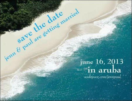 Destination Save the Date Ideas | ... ' re a totally appropriate save the date for destination weddings