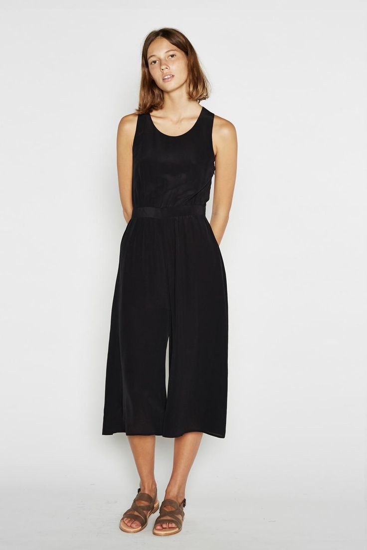 Draped Jumpsuit | Black
