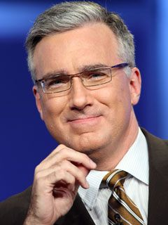 Yes, Keith Olbermann. I love what he does, think he's a hot silver fox, and he can rock a mean suit. Not ashamed.