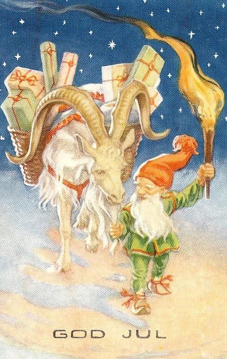 Good Yule. christmas goat - kill it & eat it ( not turkey )  elf