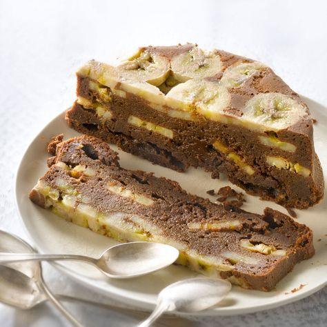 Découvrez la recette Gâteau banane sans oeuf sur cuisineactuelle.fr.