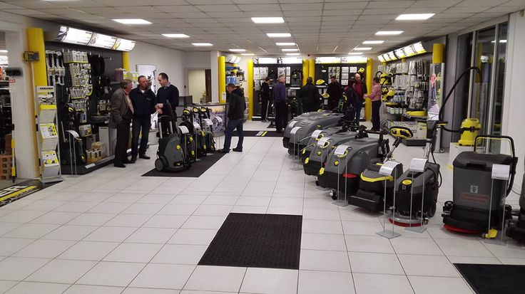 Some customers looking at our Karcher centre section and grabbing some bargains during the opening of Craigmore's new Karcher Superstore
