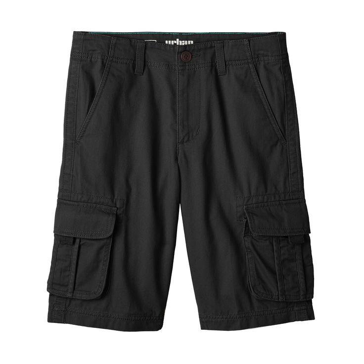 Boys 8-20 Urban Pipeline® Messenger Cargo Twill Shorts, Boy's, Size: 18, Black