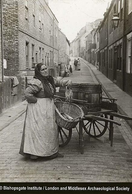 Fish seller c1910