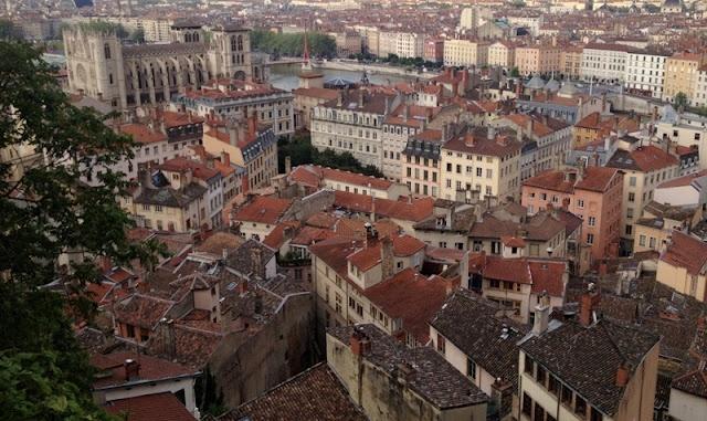 Lyon - vista do albergue da juventude