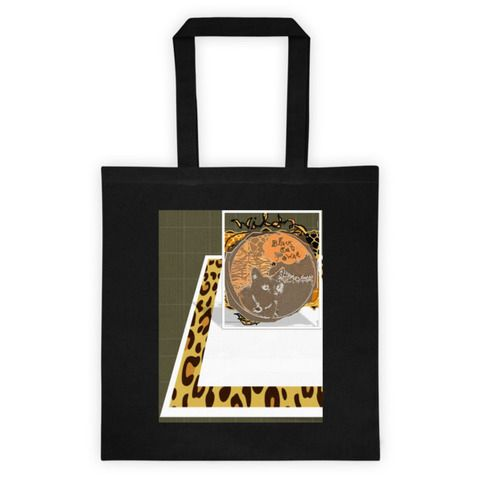 Canvas tote $20- Feline charm