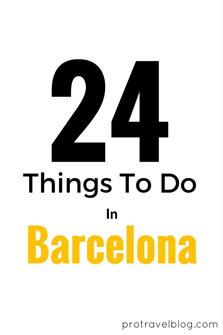 Barcelona should be on your must visit European destinations! If it's not, it will be when you check out the top 24 things to do there! Click here to see the list!
