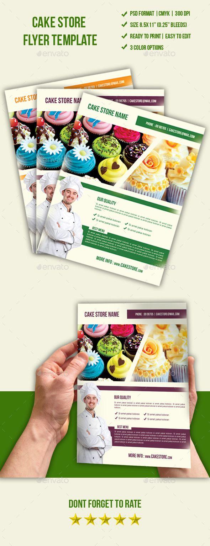 #Cake Store Flyer - Restaurant Flyers Download here: https://graphicriver.net/item/cake-store-flyer/9584425?ref=carlyalexa