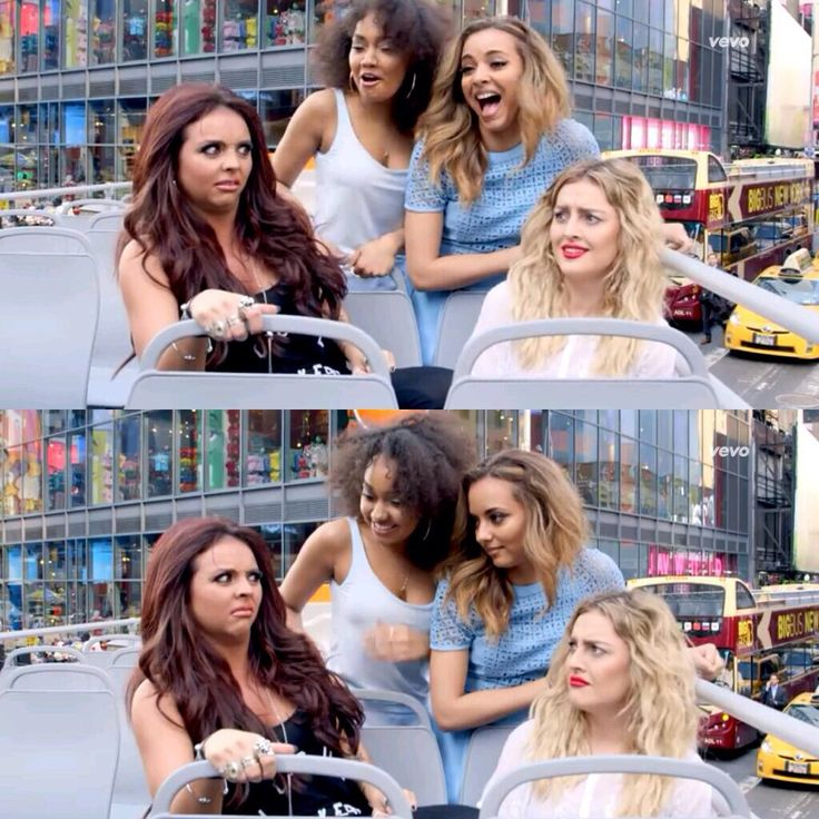 I just love Jesy and Perrie's faces rn