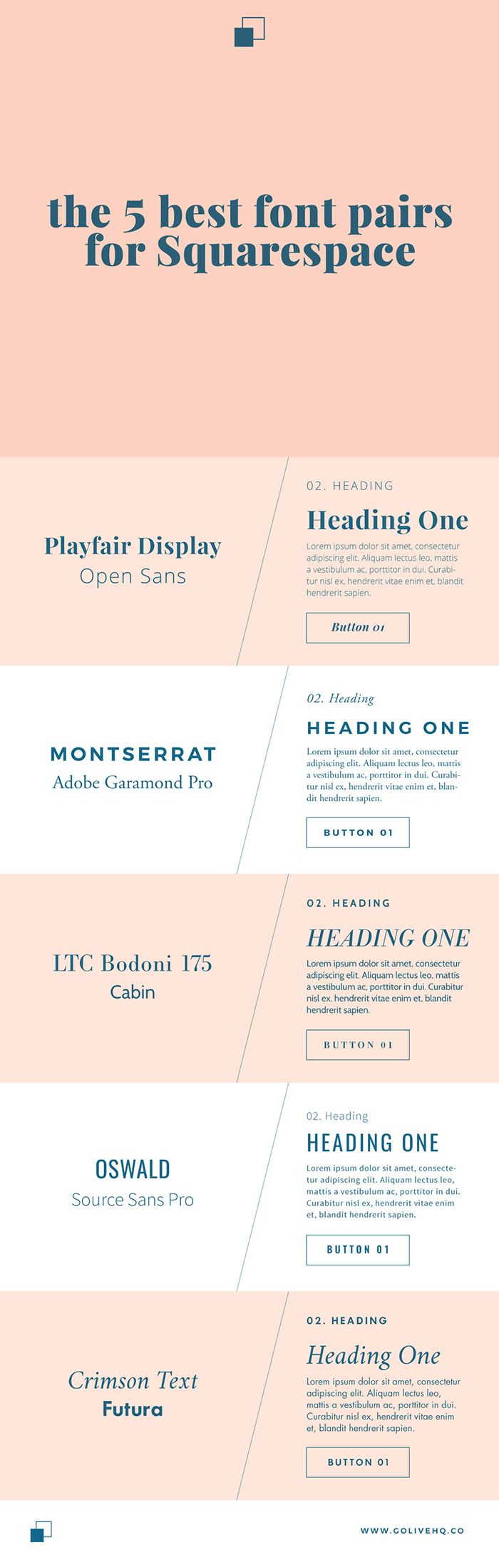 Monseratt and garamond 5 BEST FONT PAIRS FOR SQUARESPACe