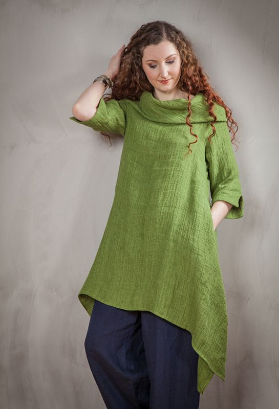 Terry Macey Spring/Summer 2015 Paris Tunic in green linen.