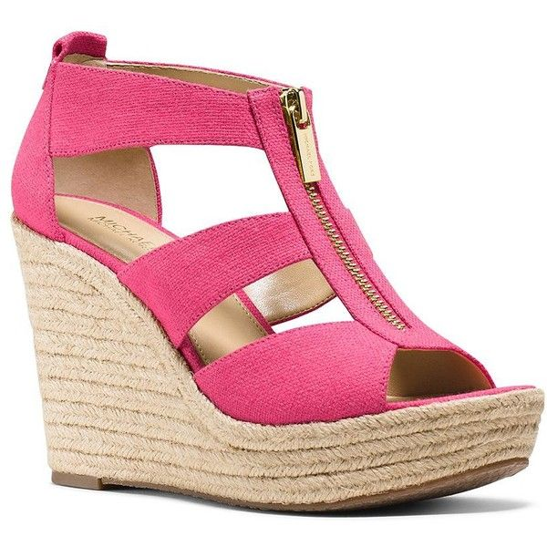 3064c1b046b1 Michael Michael Kors Women s Damita Wedge Espadrilles ( 74) ❤ liked on  Polyvore featuring shoes