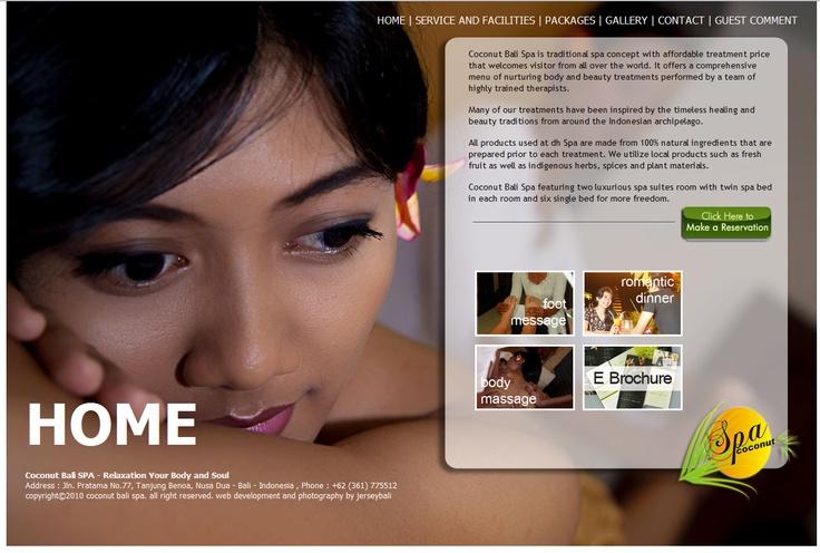 Coconut Bali SPA  web design, web development