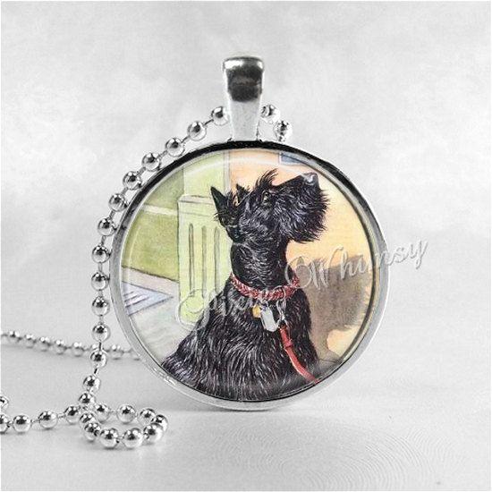 SCOTTY Dog colgante collar joyería de Scottie Terrier