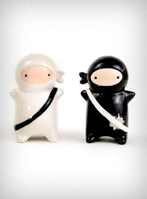 Ninja Salt and Pepper shakers