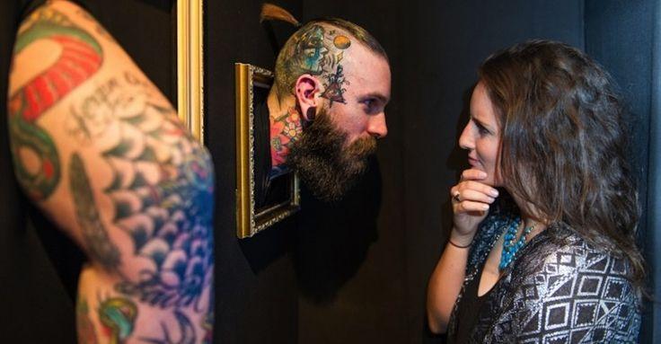 Bizarre London Art Exhibit Puts Live Models With Tattoos On Display