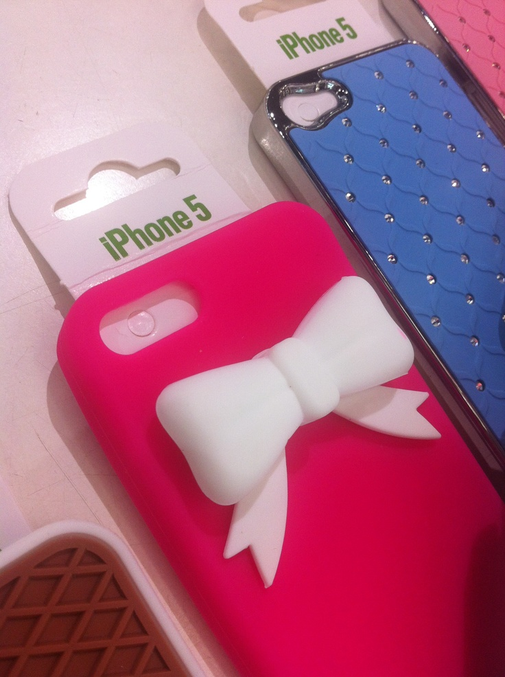 New iPhone 5 accessories! Pink & Ribbon Cover.