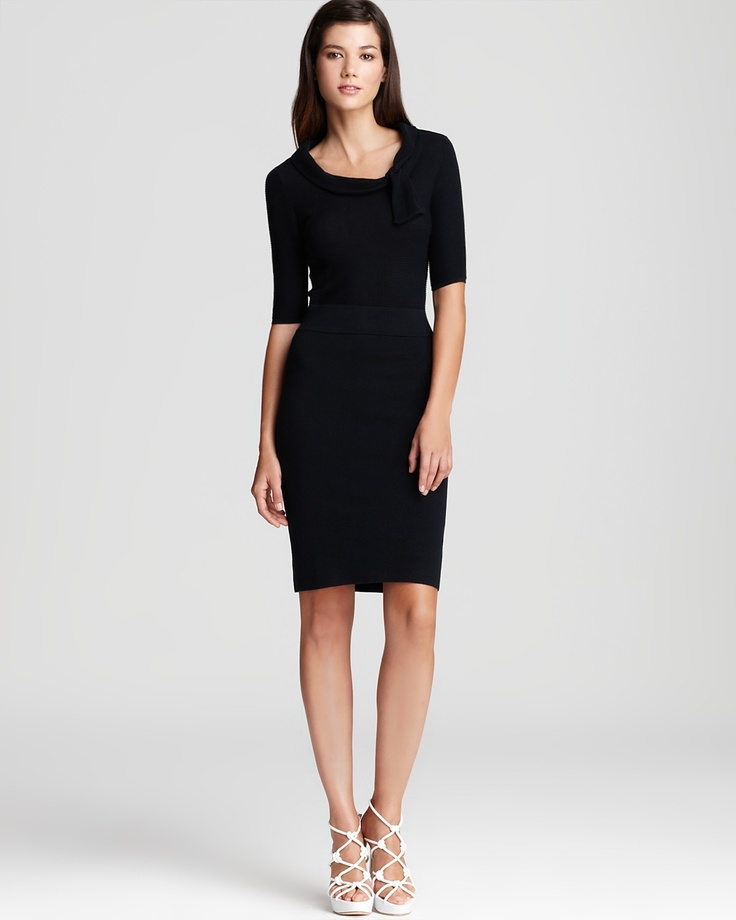 Perfect timeless office dress:  Armani Collezioni Dress - Knit with Rolled Neck