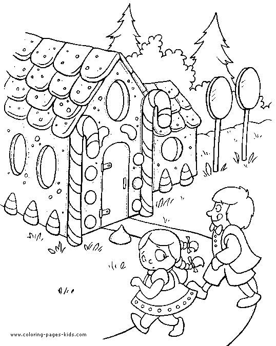 hansel and gretel coloring pages - photo#18